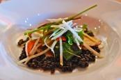 Beluga lentil salad