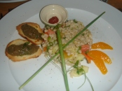 Barley salad & eggplant tapenade