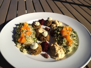 Middle Eastern Plate - best falafel I've ever had!